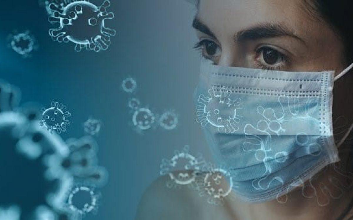 Coronavirus person wearing a mask